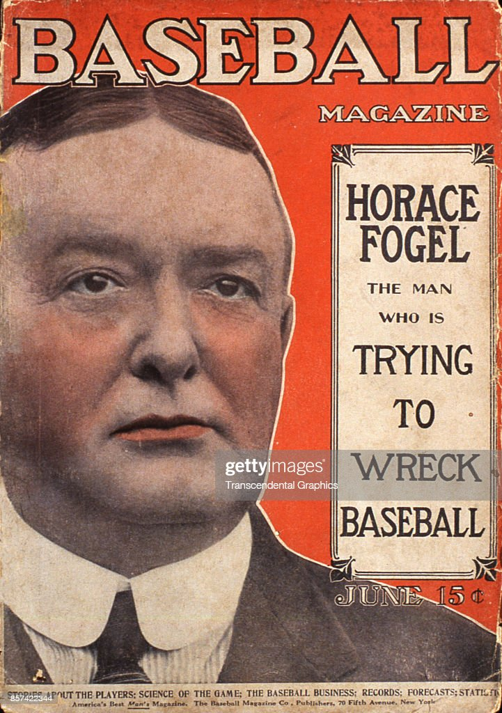 Baseball Magazine Cover With Horace Fogel : News Photo