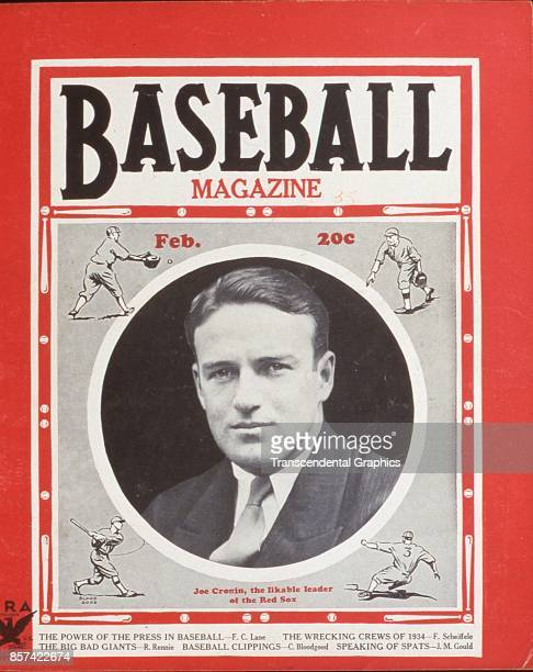 Baseball Magazine features a photograph of manager Joe Cronin, of the Boston Red Sox, February 1935.