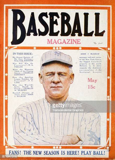 Baseball Magazine features a photograph of New York Yankees manager John McGraw May 1920