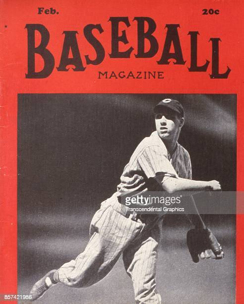 Baseball Magazine features a photograph of pitcher Bob Feller in action February 1939