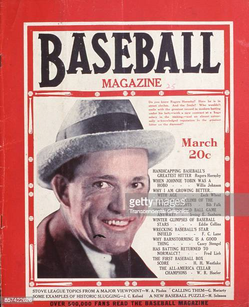 Baseball Magazine features a photograph of Rogers Hornsby March 1925