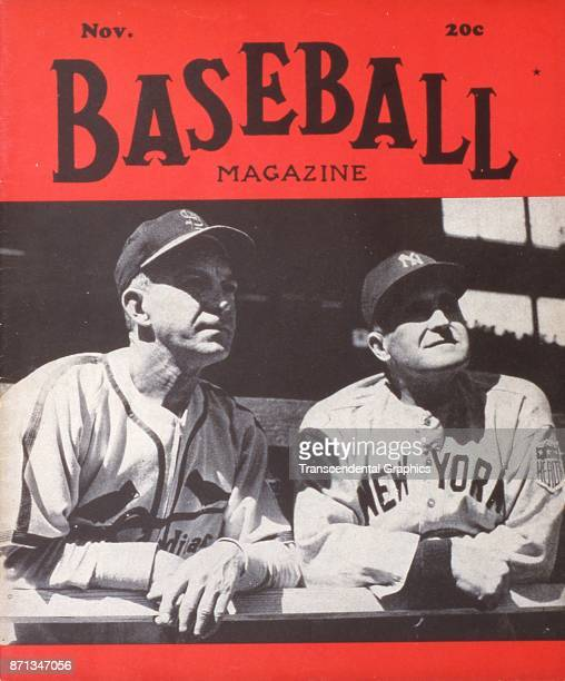 Baseball Magazine features a photograph of St Louis Cardinals coach Johnny Keane and New York Yankees manager Joe McCarthy November 1939