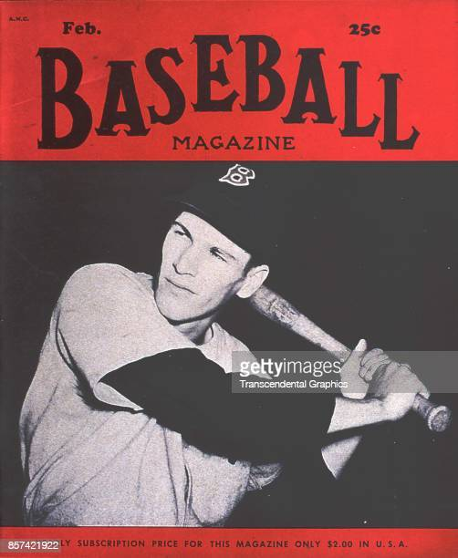 Baseball Magazine features a photograph of third baseman Billy Goodman, of the Boston Red Sox, February 1951.