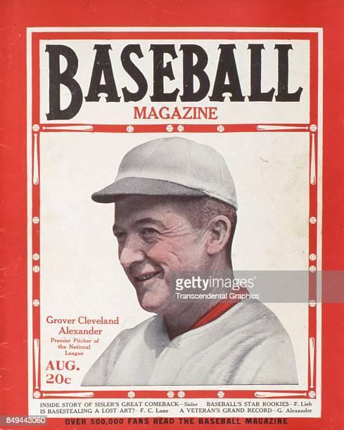 Baseball Magazine features a portrait of baseball player Grover Cleveland Alexander