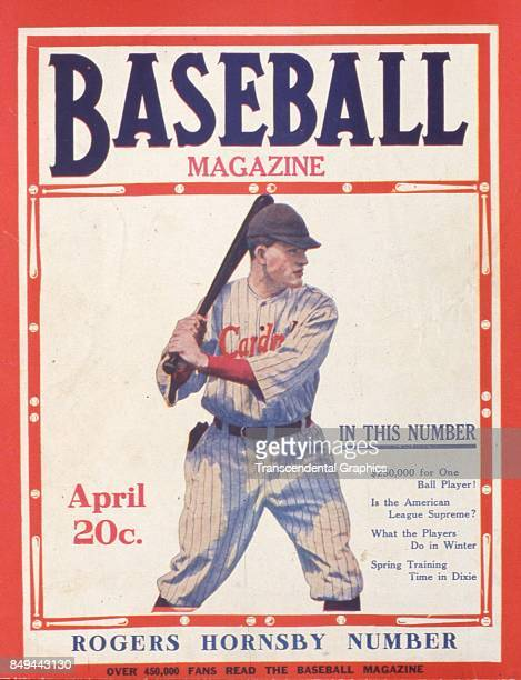 Baseball Magazine features a portrait of baseball player Rogers Hornsby