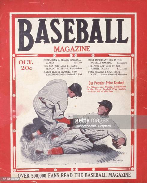 Baseball Magazine features an illustration of a play at third base October 1922