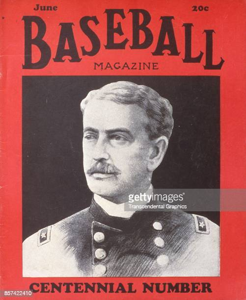 Baseball Magazine features an illustration of General Abner Doubleday credited with inventing baseball June 1939