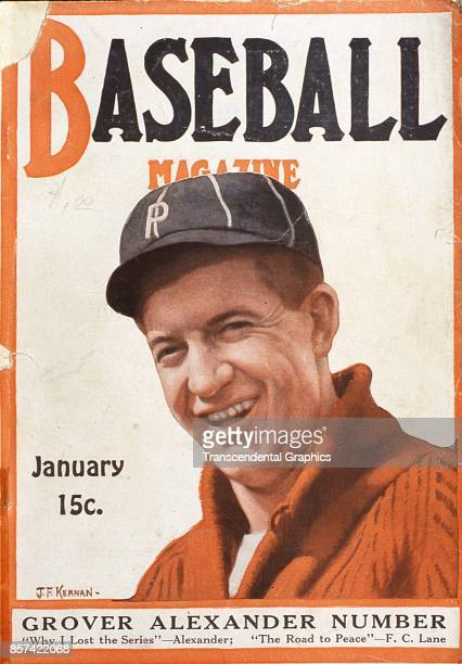 Baseball Magazine features an illustration of pitcher Grover Cleveland Alexander January 1917