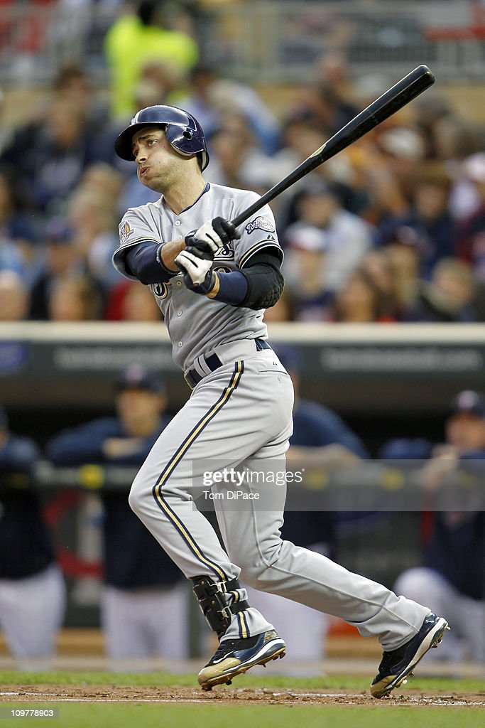 Milwaukee Brewers Ryan Braun (8) in action, at bat vs Minnesota Twins at Target Field.Minneapolis, MN 5/21/2010CREDIT: Tom DiPace