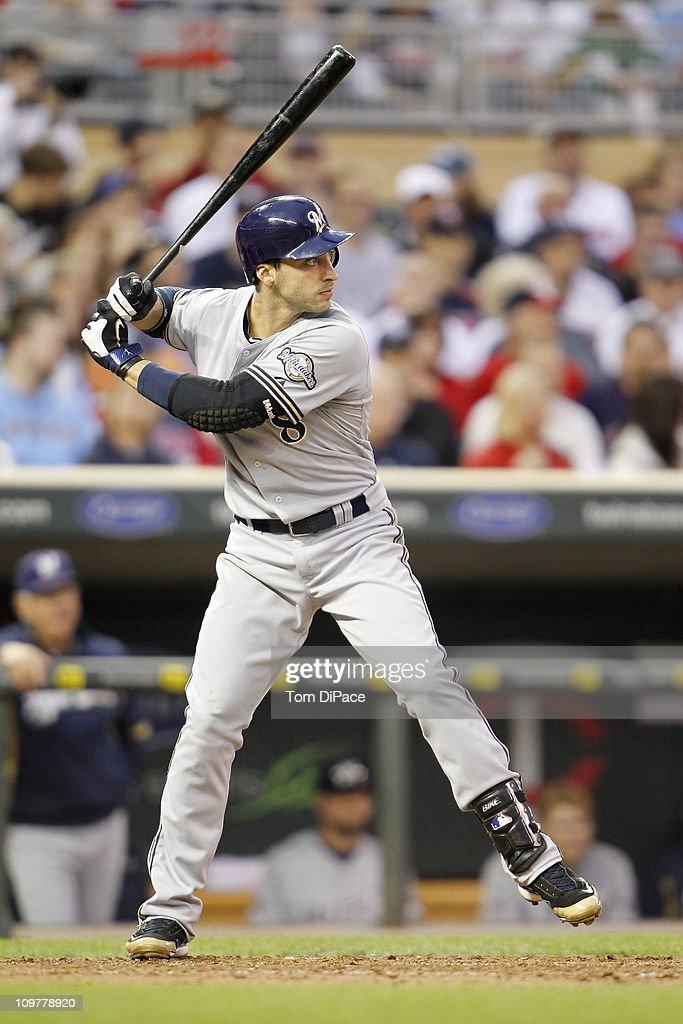Milwaukee Brewers Ryan Braun (8) in action, at bat vs Minnesota Twins at Target Field.Minneapolis, MN 5/21/2010CREDIT: Tom DiPace