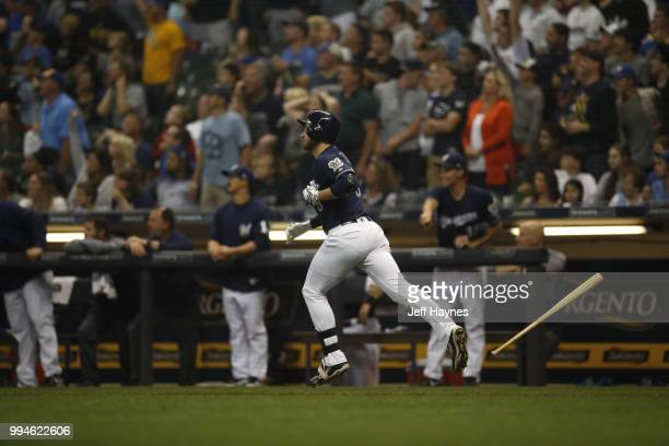 Milwaukee Brewers Ryan Braun in action running bases after hitting home run vs Kansas City Royals at Miller Park Milwaukee WI CREDIT Jeff Haynes