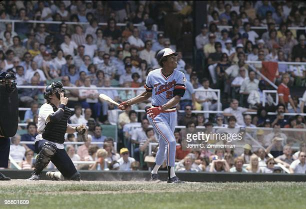 Minnesota Twins Rod Carew in action, at bat vs Chicago White Sox. Chicago, IL 7/1/1977--7/3/1977 CREDIT: John G. Zimmerman