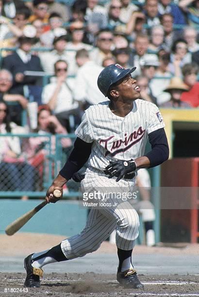 Baseball: Minnesota Twins Rod Carew in action, at bat vs Kansas City Athletics, Bloomington, MN 9/21/1967
