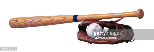baseball, mitt, and bat - sports glove stock pictures, royalty-free photos & images
