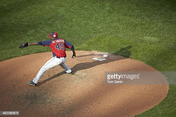 Futures Game: Team World Victor Alcantara in action, pitching vs Team USA during MLB All-Star Summer at Target Field. Minneapolis, MN 7/13/2014...