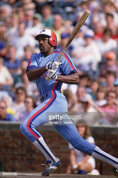 Montreal Expos Andre Dawson in action at bat vs Chicago Cubs Chicago IL 6/12/1984 CREDIT Ronald C Modra