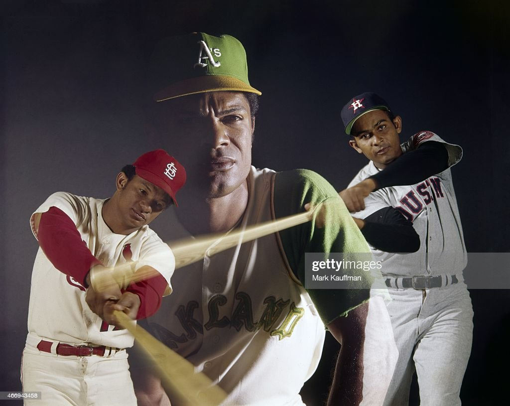 Multiple exposure portrait of St. Louis Cardinals Matty ... Felipe Alou
