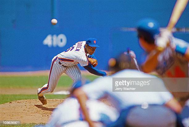 New York Mets Dwight Gooden in action pitching vs Los Angeles Dodgers Flushing NY 5/25/1985 CREDIT Jerry Wachter