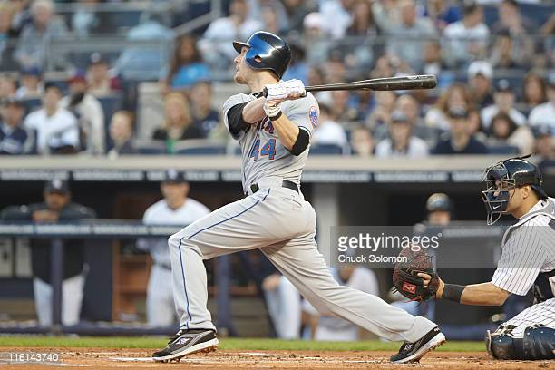 New York Mets Jason Bay in action at bat vs New York Yankees at Yankee Stadium Bronx borough of New York City NY CREDIT Chuck Solomon