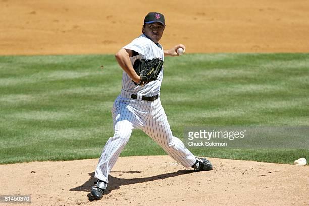 Baseball New York Mets Kazuhisa Ishii in action pitching vs San Diego Padres Flushing NY 7/21/2005