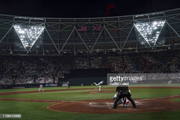 New York Yankees Adam Ottavino in action pitching vs Boston Red Sox at London Stadium London Series London England 6/29/2019 CREDIT Darren Carroll