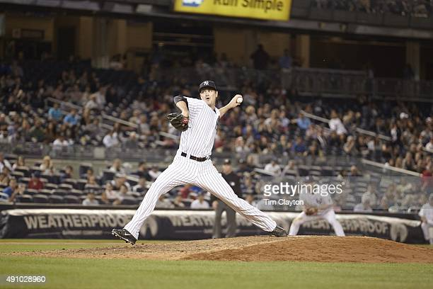 New York Yankees Andrew Miller in action pitching vs Chicago White Sox at Yankee Stadium Bronx NY CREDIT Tim Clayton