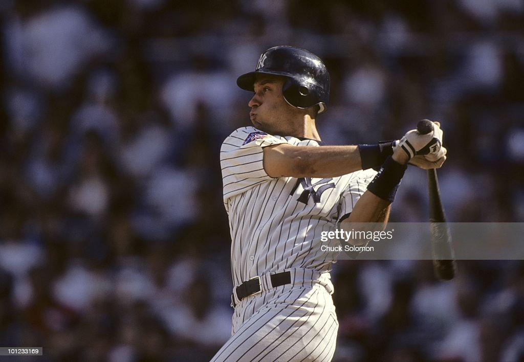 New York Yankees Derek Jeter (2) in action, at bat vs Seattle Mariners. Bronx, NY 7/26/1997