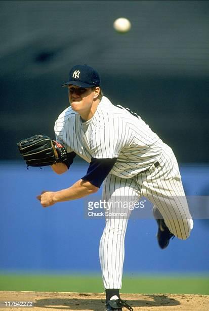 New York Yankees Jim Abbott in action pitching vs Chicago White Sox at Yankee Stadium Bronx NY CREDIT Chuck Solomon