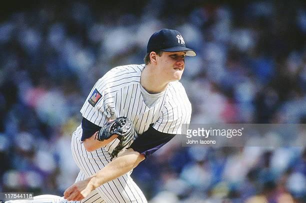 New York Yankees Jim Abbott in action pitching vs Chicago White Sox at Yankee Stadium Bronx borough of New York City 5/30/1994 CREDIT John Iacono