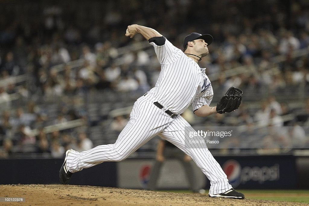 New York Yankees Joba Chamberlain (62) in action, pitching vs Baltimore Orioles. Bronx, NY 5/4/2010