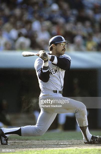 New York Yankees Reggie Jackson in action at bat vs Oakland Athletics Oakland CA 6/14/1980 CREDIT Richard Mackson
