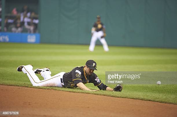 NL Wild Card Game Pittsburgh Pirates Neil Walker in action fielding vs San Francisco Giants at PNC Park No catch Pittsburgh PA CREDIT Fred Vuich