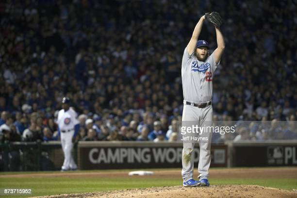 NLCS Playoffs Los Angeles Dodgers Clayton Kershaw during game vs Chicago Cubs at Wrigley Field Game 5 Chicago IL CREDIT Jeff Haynes