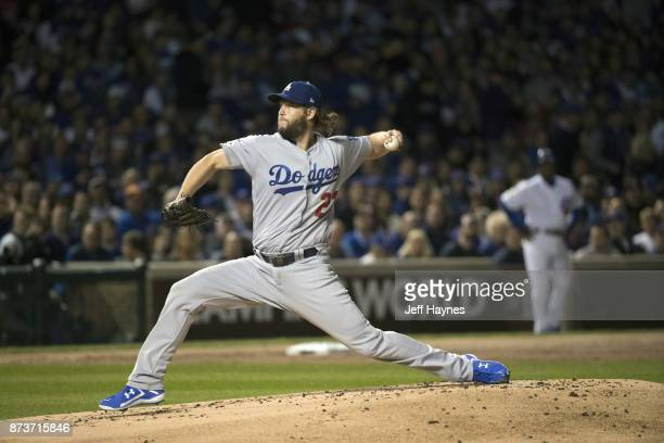 NLCS Playoffs Los Angeles Dodgers Clayton Kershaw in action pitching vs Chicago Cubs at Wrigley Field Game 5 Chicago IL CREDIT Jeff Haynes