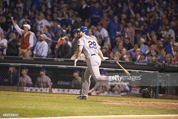 NLCS Playoffs New York Mets Daniel Murphy in action running bases after hitting home run vs Chicago Cubs at Wrigley Field Game 4 Chicago IL CREDIT...