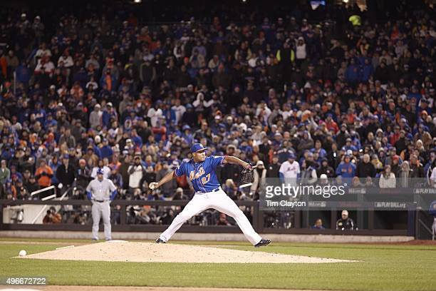 Baseball NLCS Playoffs: New York Mets Jeurys Familia in action, pitching vs Chicago Cubs at Citi Field. Game 1. Flushing, NY CREDIT: Tim Clayton