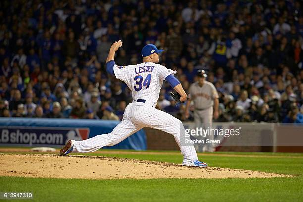 NLDS Playoffs Chicago Cubs Jon Lester in action pitching vs San Francisco Giants at Wrigley Field Game 1 Chicago IL CREDIT Stephen Green