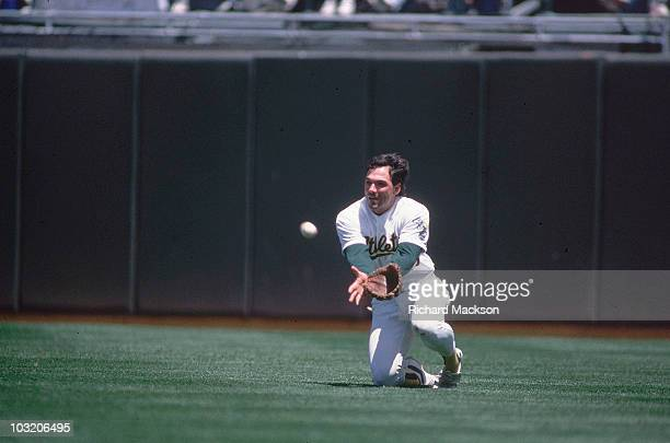 Oakland Athletics Billy Beane in action fielding vs Boston Red Sox Oakland CA 5/20/1989 CREDIT Richard Mackson