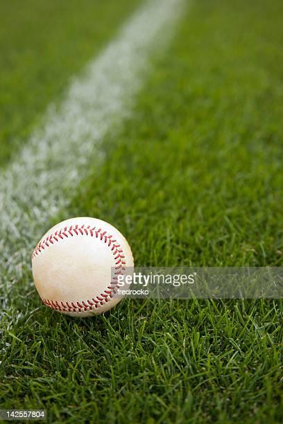 Baseball on a Baseball Field during a Baseball Game