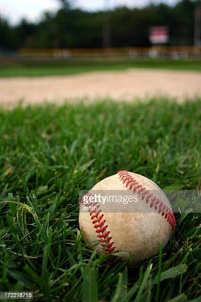 Baseball auf Feld