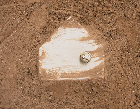 Baseball on field 957583574