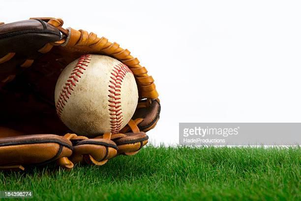 Baseball on Grass with Glove