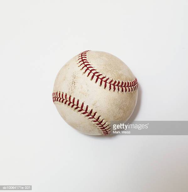 baseball on white background, close-up - baseball photos et images de collection