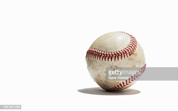 baseball on white background - bjarte rettedal stock pictures, royalty-free photos & images