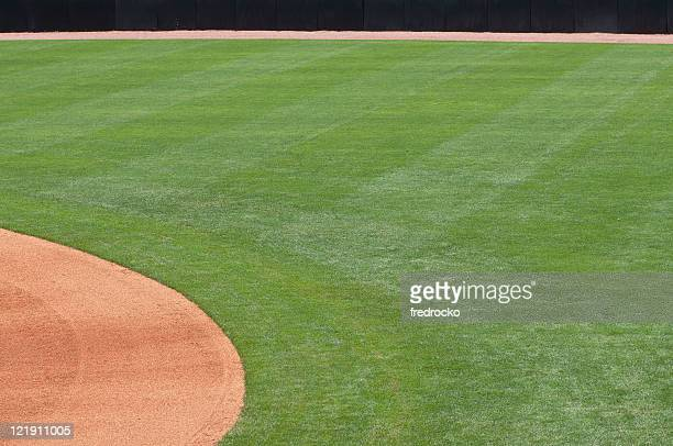 Baseball Outfield of Baseball Field at Baseball Game