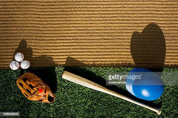 Baseball - Over Head View of Equipment