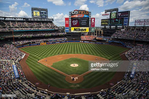 Overall aerial view of Citi Field during New York Mets vs Washington Nationals game Flushing NY CREDIT Michael Owens