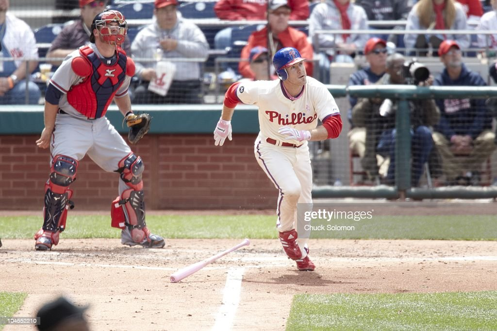 Philadelphia Phillies Chase Utley (26) in action, at bat vs Atlanta Braves. Philadelphia, PA 5/9/2010