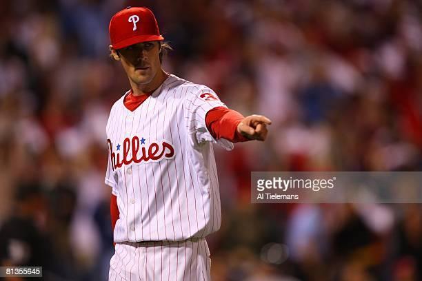 Baseball: Philadelphia Phillies Cole Hamels victorious on mound during game vs Washington Nationals, Philadelphia, PA 9/28/2007