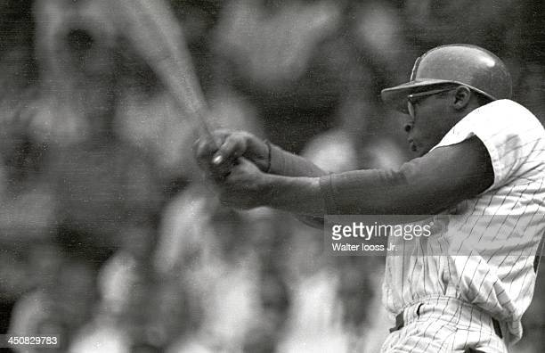 Philadelphia Phillies Dick Allen in action at bat vs San Francisco Giants at Connie Mack Stadium Philadelphia PA CREDIT Walter Iooss Jr